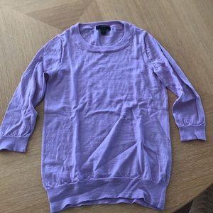 Purple 3/4 sleeve sweater
